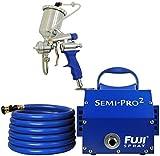 Fuji Spray(フジスプレー) HVLP低圧温風塗装機Semi-PRO2重力式(カップ固定)スプレーガンセット 2203G (1.3mm)