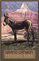 """Northwestアートモール11"""" x 17""""ポスターGrand Canyon Burro byポール・A Lanquist"""