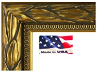 とてもシック幅2cm Solid Woodイタリアローマオリーブリーフデザイン画像ポスターフレーム 12x18 ブラック 2inOliveLeafSldWd12x18