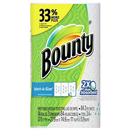 キッチンペーパー Bounty(バウンティ) キッチンタオルホワイト(無地) セレクトAサイズ 84カット 1本