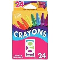 Geddes 24ct Crayons - Set of 12 [並行輸入品]