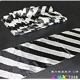 白黒ロングシルク(16x500cm) / Black&White Long Silk (16x500cm) -- シルク&ケーンマジック / Silk&Cane Magic / マジックトリック/魔法; 奇術; 魔力 …