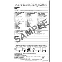 詳細なドライバの車両検査レポート–Straightトラック、ブック形式–Stock ( QTY : 10単位)