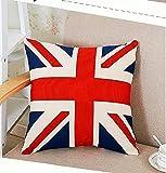 ( Athena ) クッション カバー 国旗柄 アメリカ イギリス フランス 英国 インテリア ソファー (イギリス)