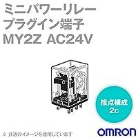 オムロン(OMRON) MY2Z AC24V ミニパワーリレー (基準形) (接点構成 2c) (プラグイン端子) (表示灯なし) NN