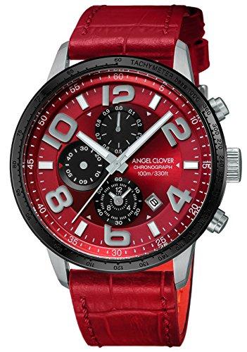 エンジェルクローバーAngel Clover 腕時計 LUCE レッド文字盤 60分計クロノグラフ/セラミックベゼル LU44SRE-RE メンズ