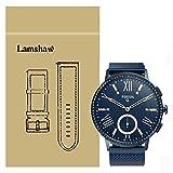 Lamshaw バンド 対応 FOSSIL Q GAZER, ミラネーゼループ マグネット式 ステンレス メッシュ 交換ベルト 対応 FOSSIL 腕時計 Q GAZER (ブルー)