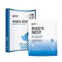 SNP BIRD'S NEST AQUA FITTING CELL MASK/SNP海燕家アクアフィッティングセルマスト 25 ml/0.84 fl.Oz*10枚 [海外直送品]