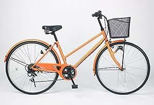 21Technology シティサイクル 26インチ オートライト 6段ギア (CTA266) オレンジ