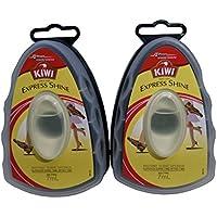 KIWI エクスプレス 革靴用つや出しワックス スポンジタイプ 全色用 7ml 2個セット 【 さっと一拭き、手も汚れず簡単手軽に靴のメンテナンス】 [並行輸入品]