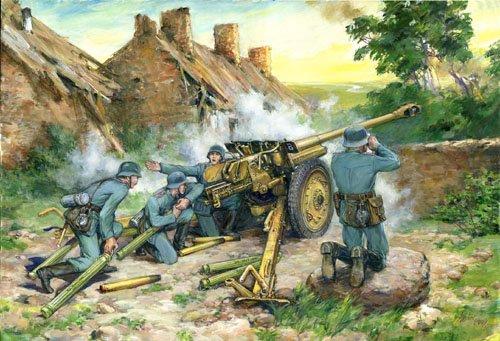 1/35 独 7.62cm Pak36r 対戦車砲 & ドイツ砲兵4体セット