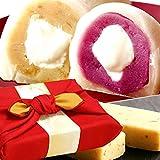 お芋スイーツ 和菓子ギフトセット(竹籠入り赤色風呂敷包)