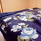 西川 毛布 シングル 日本製 アクリル毛布 [AA1176] 2枚合わせ毛布 (ブルー)