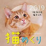 猫めくり 2019年 カレンダー リフィル 日めくり CK-C19-02