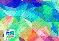 1500ピースジグソーパズル レインボー抽象色パステルパターン 木製素材 34.2×22.4インチ