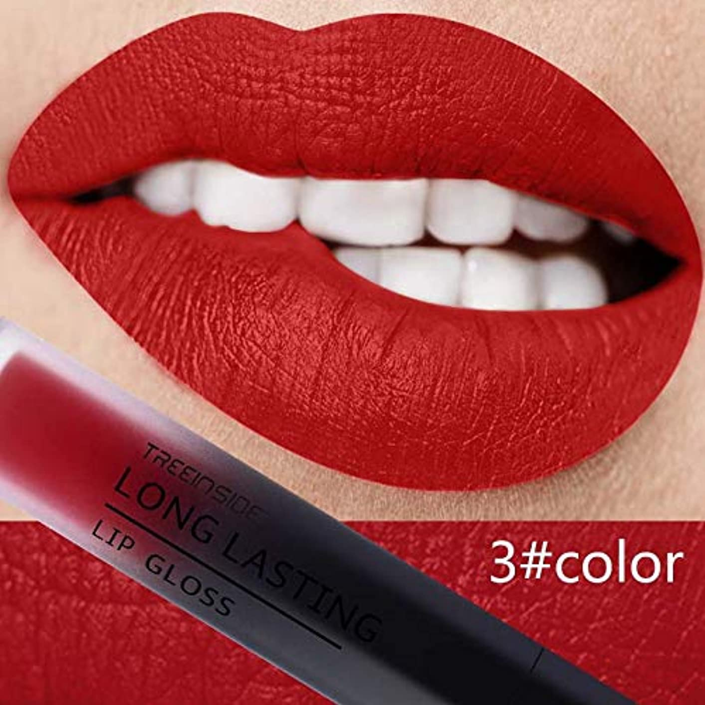 Gyvoxz - マットリキッド口紅長持ちメイクピンクブルーレッドリップグロス化粧品美容防水メイクアップメイトヌードリップスティック[3]