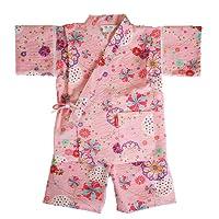 日本製 綿の郷 女の子用リップル生地甚平 じんべい 子供 90 100 110 120 130 140