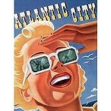 Travel Sunshine Sun Blonde Atlantic City USA Repro Art Canvas Print アメリカ合衆国