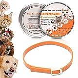 WOLFWILL 天然ハーブ ノミやダニの首輪+蚊よけ 猫用 犬用 首回り58cmまで 効果90日 オレンジ
