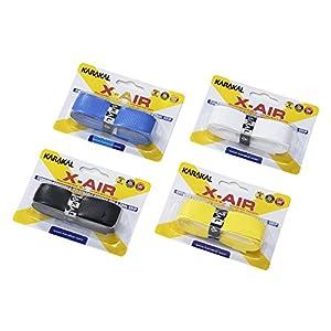 KARAKAL(カラカル) グリップ 全ラケットスポーツ対応 X-AIR 4個1セット KA 704 青 白 黒 黄色