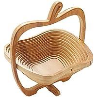 折り畳み竹フルーツバスケットクリエイティブスナックキャンディストレージボックスバスケット