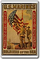 U.s. Marines, Soldiers Of The Sea - Vintage Military War Fridge Magnet - ?????????