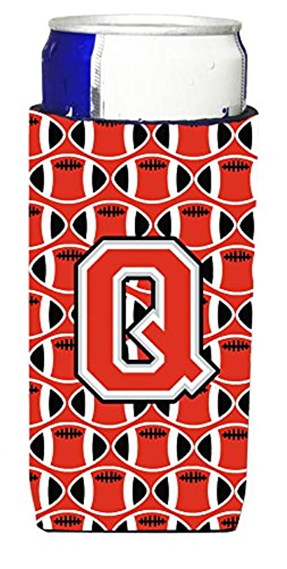 季節ベリー喜ぶLetter Q Football Scarlet andグレーUltra Beverage Insulators forスリム缶cj1067-qmuk