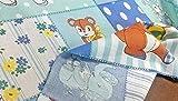 布人倶楽部 有輪商店 松山敦子さんのシャーティング 約60cmパネルプリントカットクロス ブルー系