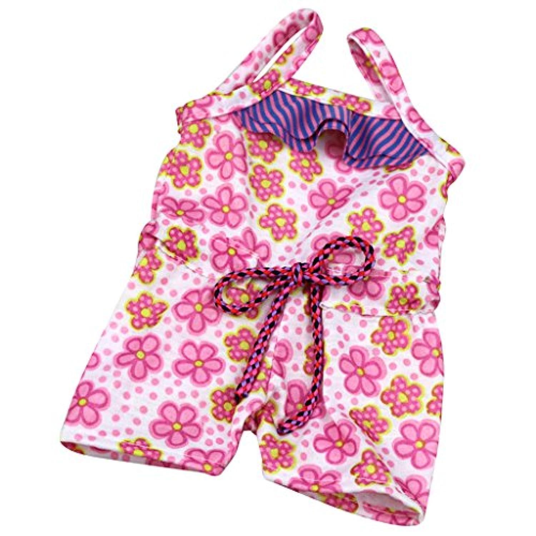 Lovoski ファッション  ドール用 花プリント 水着 スイミングスーツ 18 インチ アメリカンガール人形対応 衣類