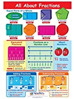 All About Fractions Visual Learning Guides Set/5-4-Panel 11 x 17 Laminated Guides Full-Color Graphic Overview Write-On/Wipe-Off Activities [並行輸入品]