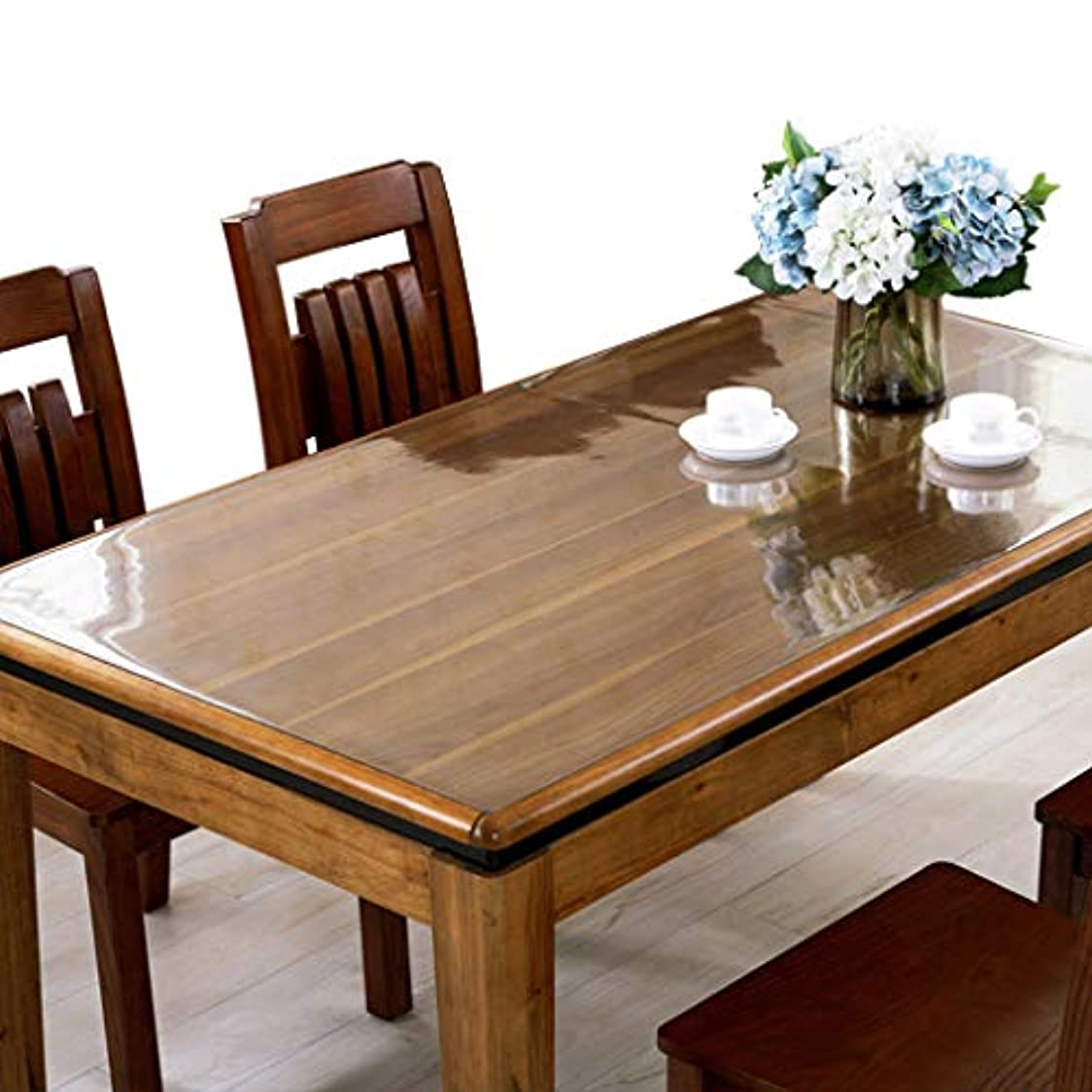 アブストラクト最適モンクIYHUO PVC製 透明 テーブルクロス テーブルマット デスクマット マット 長方形 厚さ1MM 防水 撥水 耐久 汚れ防止 サイズ選択可能 70*120CM
