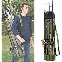 多機能ロッドスタンド 釣り竿ケース ロッド最大5本挿入OK!椅子挿入可能 防水オクスフォード生地 軽量&大容量 手提げ&肩掛け ロッドキャリー フィッシングバッグ ポタブルー タックルバッグ
