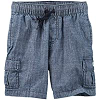 OshKosh B'Gosh Toddler Boys' Chambray Pull On Cargo Shorts 24 Months