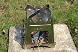Aokit™ 折りたたみ 薪ストーブ ステンレス製 携帯焚火台 (専用収納バッグ付き) 燃料不要 ウッドバーニング 軽量 コンパクト 野外 キャンプ クッキング ピクニック