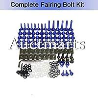 完全なフェアリングボルトキットネジドゥカティ 1098 848 1198 2007-2012 ファスナーハードウェアカウリングバイク (ブルー)