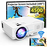 WiFi Mini Projector Jinhoo 2019 Newest 1080P Supported 2800 Lux HD Home Theater Projector with 176'' Projector Size 50000 Hours Lamp Lifetime Compatible with TV Stick HDMI USB SD VGA