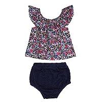 Domybest 赤ちゃん 女の子 花のTシャツ+トライアングルPPのパンツ 2つのピース 夏