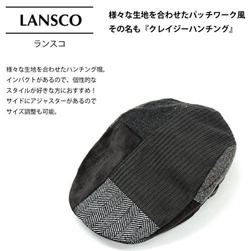 (ランスコ) LANSCO.VI. 全3柄 メンズ ポリエステル 100% クレイジー ハンチング 帽 フリーサイズ カジュアル 帽子 cappello34 01