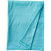 SheetWorld Soft & Stretchy Swaddle Blanket - Aqua - Made In USA by sheetworld