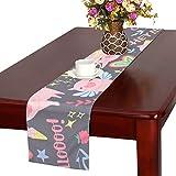 GGSXD テーブルランナー 幼い 豚 クロス 食卓カバー 麻綿製 欧米 おしゃれ 16 Inch X 72 Inch (40cm X 182cm) キッチン ダイニング ホーム デコレーション モダン リビング 洗える