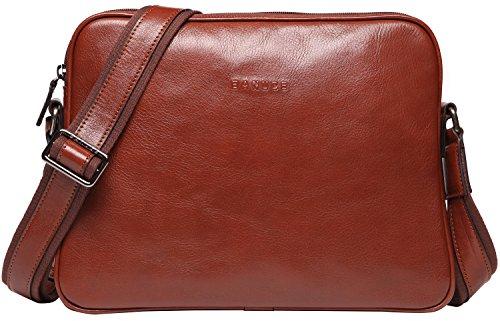 (バンニュス) Banuce メッセンジャーバッグ メンズ 本革 高品質ビンテージ イタリア 革 iPadの収納可能 ビジネスバッグ ショルダーバッグ