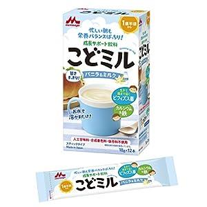 森永 こどミル スティックタイプ バニラ&ミルク味 18g×12本