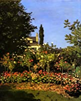 Garden in Bloom at Sainte Addresse 1866フランス花byクロード・モネREPROキャンバスの