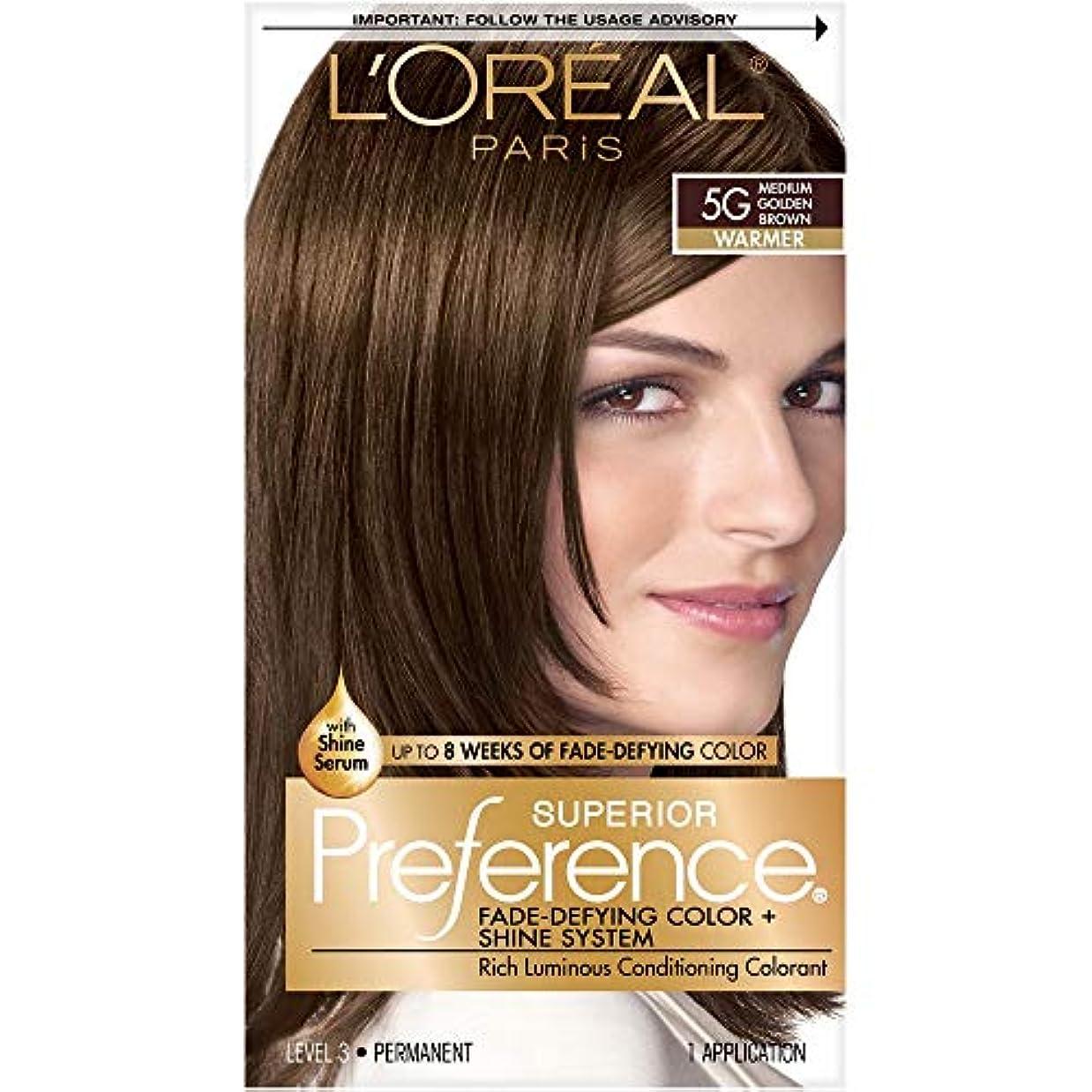 州学者トランペット海外直送肘 LOreal Superior Preference Hair Color 5G Medium Golden Brown, Medium Golden Brown 1 each
