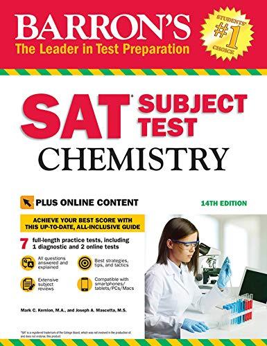 Download Barron's SAT Subject Test: Chemistry with Online Tests (Barrons Sat Subject Test) 143801113X