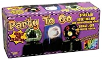 Forum Novelties Party to Go Disco Ball Rotating Lamp Signal Light Set (3-Piece) [並行輸入品]