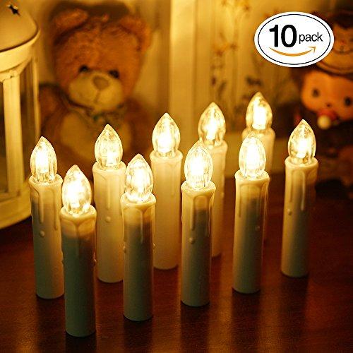 BlueFire LEDキャンドルライト 電池式蝋燭ろうそく...