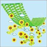 夏装飾 ひまわり畑プリーツハンガー L150cm / 向日葵 ヒマワリ 飾り ディスプレイ  4230