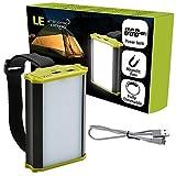 LE 充電式LEDキャンプランタン 調光対応な緊急ランタン 4400mAh電池 330lm アウトドア用のモバイルバッテリー 内蔵マグネット 作業灯 テント・ホーム・ハイキング・キャンプ・ハリケーン・電池が切れるなどに適用される