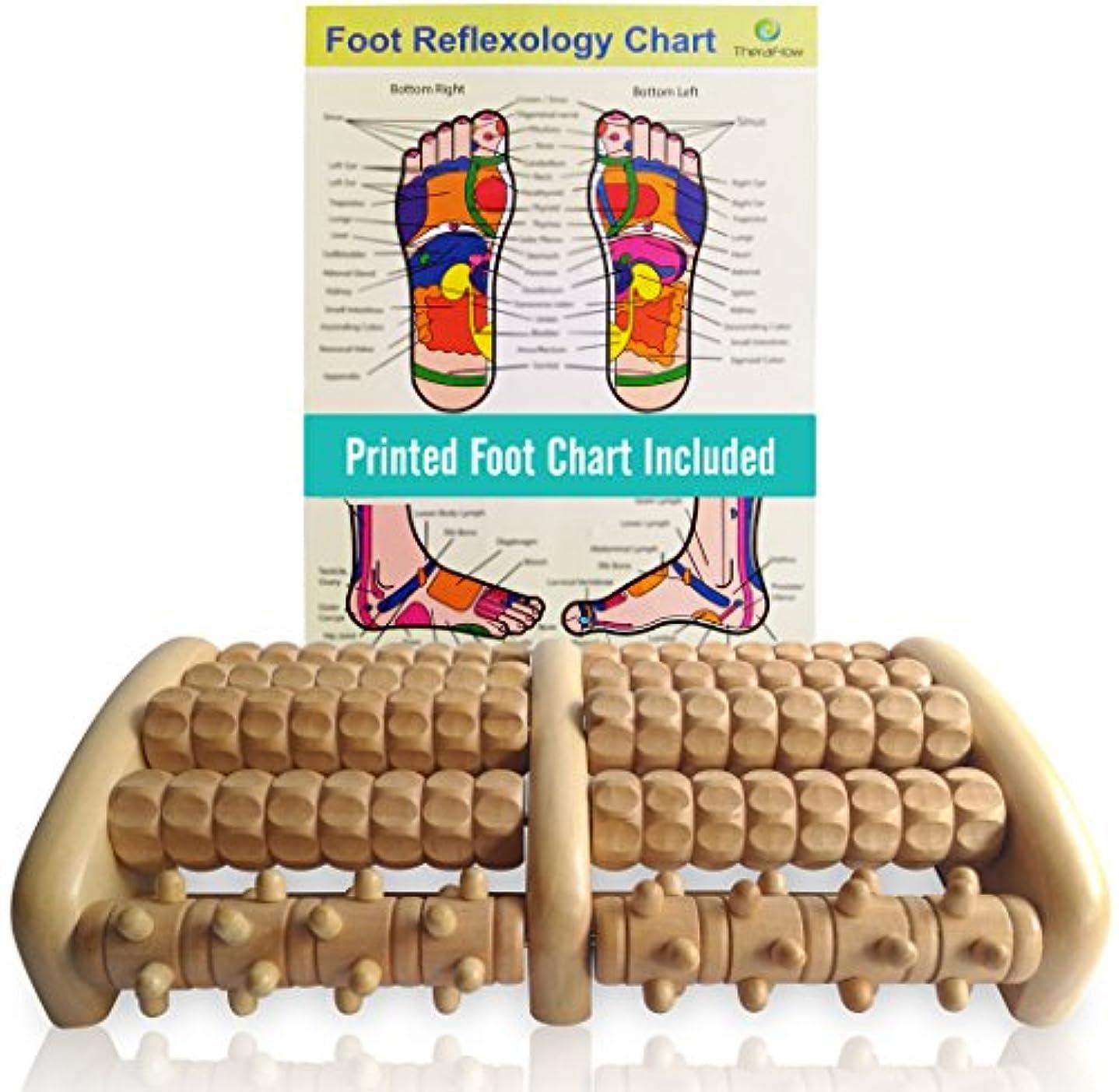 拮抗ケーブルカー酒TheraFlow Large Dual Foot Massager Roller - Plantar Fasciitis, Heel, Arch Pain Relief -Enhanced Model 2018- Laminated...